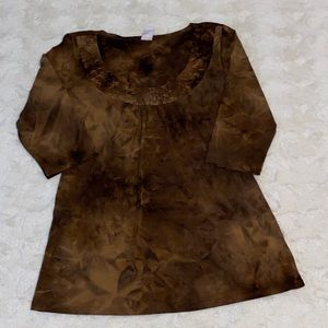 Brown Bobbie Brooks Top Size Medium